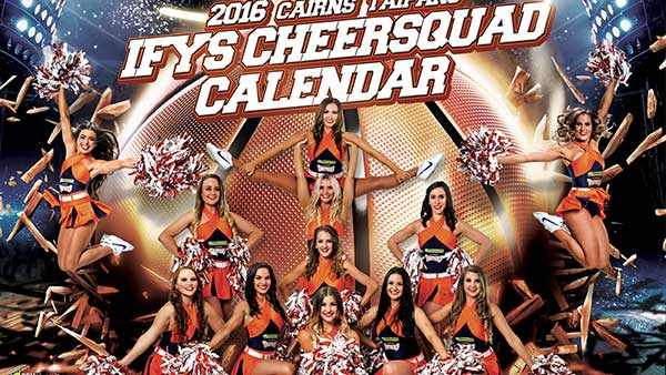 Cairns Taipans Cheerleader Calendar Artwork
