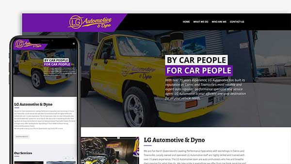 LG Automotive Website