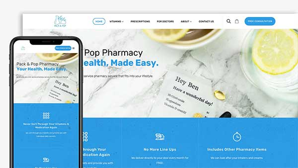 Pack And Pop Website Design