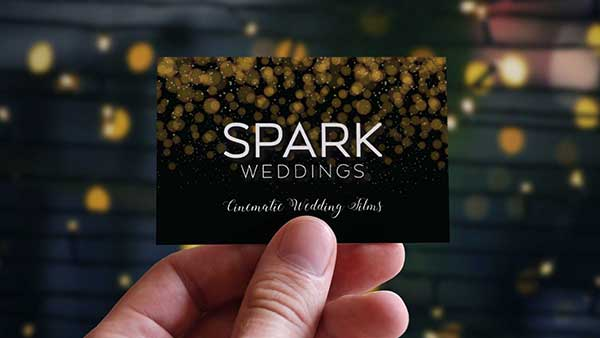 Spark Weddings Business Card Design