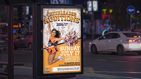 Cheerleader Auditions Artwork Cairns Taipans