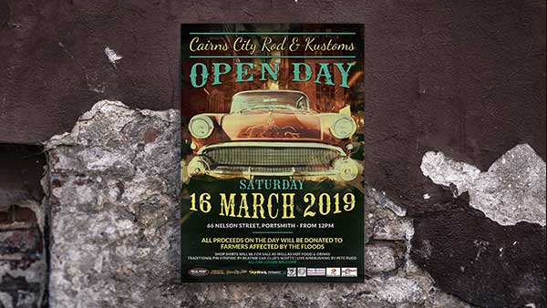 Cairns City Rod Kustoms Open Day Poster